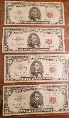 Lot of 20 Bills $5, $2 $1 Blue, Red, Green Seal and Federal Reserve and Star Not