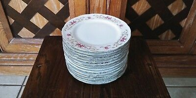 """Lot Of 11 Vintage Fine China Rose Baroque Style House Saucers Plate 6.5"""" Japan"""