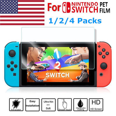 9H Premium Tempered Glass Protective Screen Protector for Nintendo Switch USA