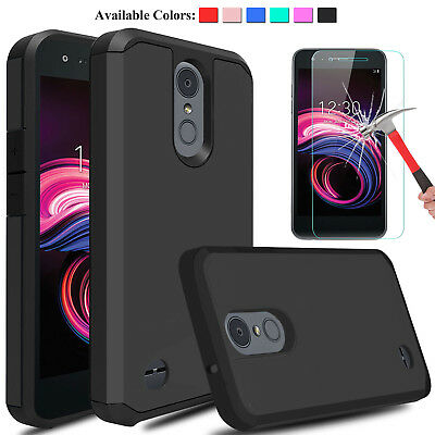 For LG Aristo 3/Tribute Empire/2 Plus Shockproof Case Cover +Screen Protector