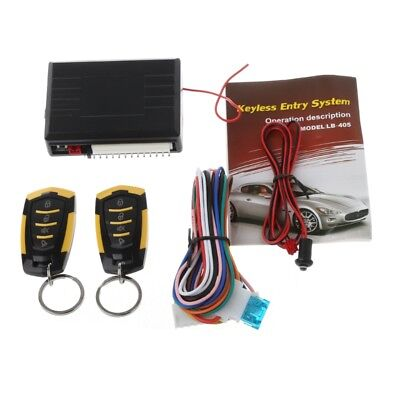 Auto Car Alarm Remote Central Door Locking 12V Vehicle Keyless Entry System Kit
