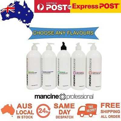 Mancine Professional Hand & Body Lotion Skin Care Waxing 1 Litre 1L - Choose Any