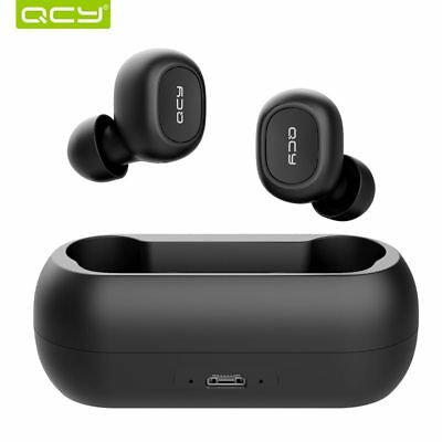 QCY T1C TWS Bluetooth Earphone Wireless 3D Stereo Headsets Noise Cancel With Mic