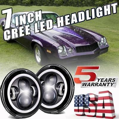 For Chevrolet Camaro LED Headlights 7'' Inch Round Projector DRL Lights H4-H13