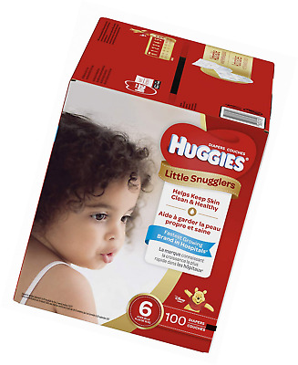 Huggies Little Snugglers Baby Diapers, Size 6 (fits 35+ lbs.), 100 Count NEW