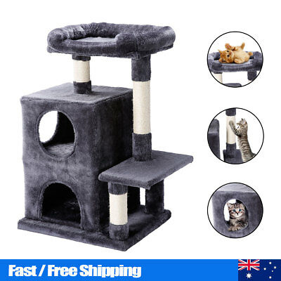 Cat Scratching Tree Scratcher Post Pole Furniture Condo Play House Pet Toy Tower