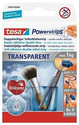 tesa Powerstrips® 58810 Strips Transparent LARGE