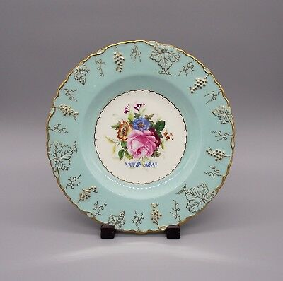Vintage Royal Crown Derby Hand Painted Bone China Cabinet Plate