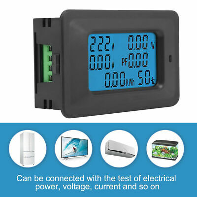 6 in 1 Digital AC Meter Voltage 110V-250V Current 20A Power Factor KWH Frequency