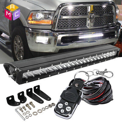 Slim 20Inch 1200W Led Work Light Bar Single Row Driving Lamp For Jeep Wrangler