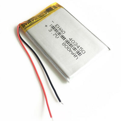 3.7V 800mAh Lipo rechargeable Battery For MP3 PAD DVD GPS Recorder Camera 403450