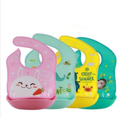 Infant Waterproof Bib Soft And Detachable Easy To Clean Water Pocket Durable AT