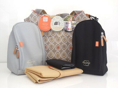 Brand New Napier Classic Changing Bag in Mocha Melody - Direct from PacaPod