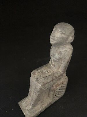 Rare Ancient Egyptian  Seated Akhenaton (1336 Bc-1324)