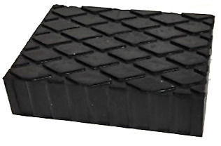 Rubber Lift Pad 160 x 120 40 MM For Scissor Lifts and Jacking Beams BTS0995