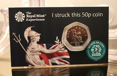 2019 Britannia Fifty Pence Royal Mint Strike Your Own 50p - BUnc - RARE