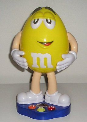2012 Mars Inc. Large Yellow M & M's Collectable Dispenser - Like New - Empty