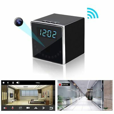 HD 1080P Wireless Wifi IP SPY Hidden Camera Clock IR Motion Detection DVR DV Cam