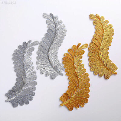 1643 A Pair Applique Embroidery Patch Sticker Iron Sew Cloth Fabric Sticker DIY