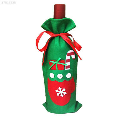 1DC6 Kitchen Christmas Champagne Wine Bottle Cover Bags Gift Candy Storage Pouch