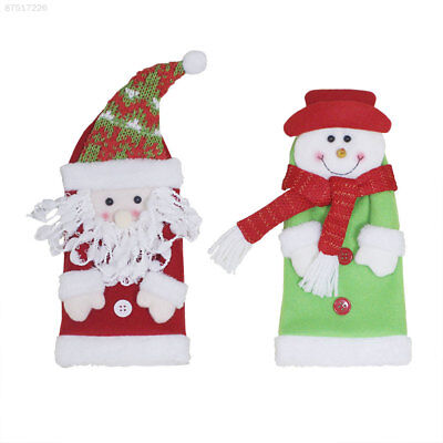 BA86 Bottle Cover Home Decoration Red Wine Party Christmas Gift Santa Claus