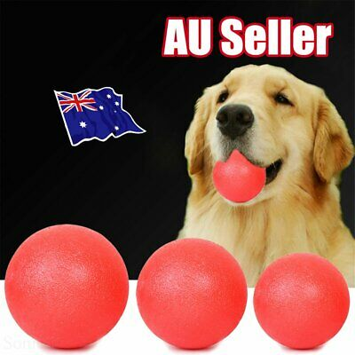 Indestructible Training Toy Rubber Ball Pet Puppy Dog Chew Play Fetch Bite DM