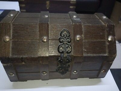 Vintage Wooden Treasure Chest