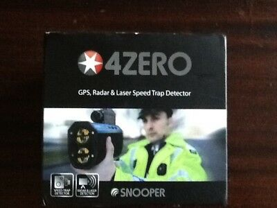 Snooper 4zero GPS Radar&Laser Speed Trap Detector