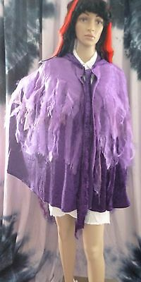 Homemade Woman's Purple Witch's Cloak