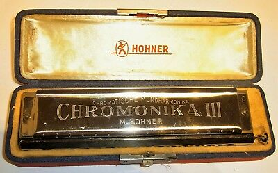 M. Hohner Nr. 280 Chromonika III, Tonlage C, in OVP, made in Germany