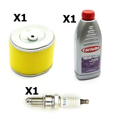 Non Genuine Spark Plug + 4 Stroke Oil + Air Filter Fits Honda GX240 GoKarts