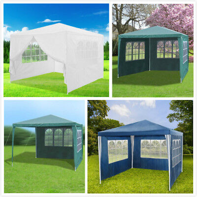 New 3 x 3m 120g Waterproof Outdoor PE Garden Gazebo Marquee Canopy Party Tent UK