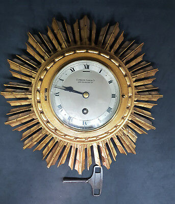 Rare Antique Starburst Clock By Elliot