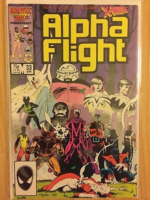 Alpha Flight 33 34 (1986, Marvel) Cameo And 1st appearance Lady Deathstrike