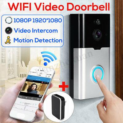 1080P WiFi Security Video Intercom Doorbell Smart Wireless HD Camera Ring Bell