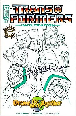 Transformers: Infiltration #1 - Signed Andrew Wildman - Draw The World Exclusive
