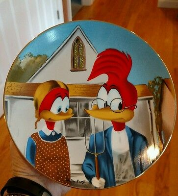 Gothic Woody Woodpecker Collector Plate by Walter Lantz