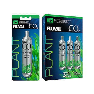 NEW Fluval 45g Disposable Replacement CO2 Cartridges - Pack of 1 or 3