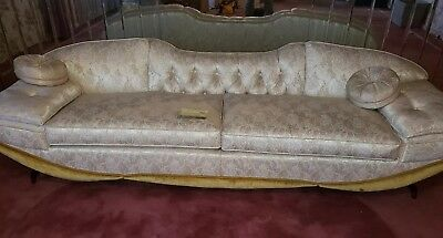Hollywood Regency Gondola Sofa by Prestige, Adrian Pearsall design