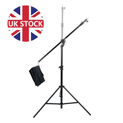 THICKER Heavy Duty Photo Studio Boom Stand Overhead Boom Arm Light Stand UK