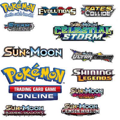 50 x Pokemon Codes Online TCGO Booster TCG Codes  Email Delivery - XY Sun & Moon