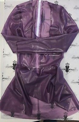 ** R0409 Latex FLIRT DRESS *Semi Purple* 8UK WESTWARD BOUND RRP £167.84