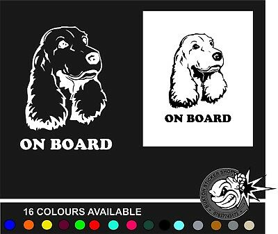 Cocker Spaniel Car Sticker Vinyl Decal Adhesive Wall Window Bumper Tailgate B #2