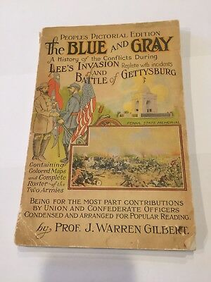 Antique Book 1947 The Blue And Gray Gettysburg