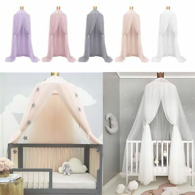 Baby Kids Princess Bed Canopy Bedcover Mosquito Net Curtain Bedding Dome Tent UK