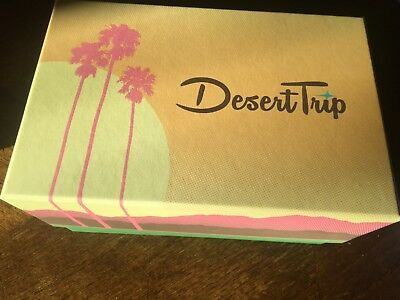 DESERT TRIP 2016 ORIGINAL WELCOME BOX WITH BLUE IMAGE 3D Plus tickets never used