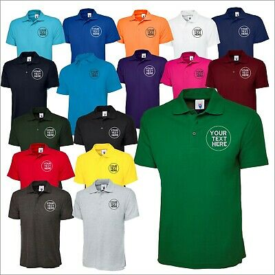 UNEEK Personalised Classic Poloshirt Unisex Short Sleeve Embroidered Staff TOP