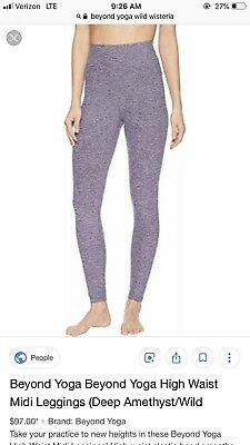 095a8d8ef31b6 Beyond Yoga Spacedye High Rise Leggings Size Small Bnwt $97 Wild Wisteria