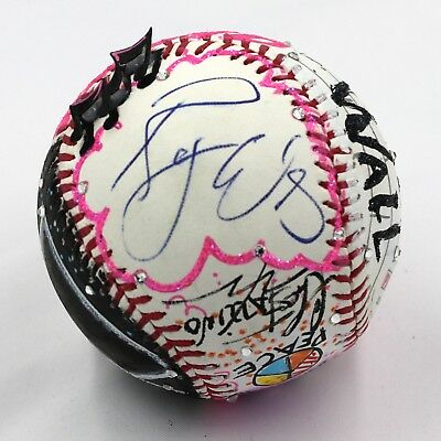Roger Waters Signed Pink Floyd - Charles Fazzino 3D Painted Baseball PSA X68662