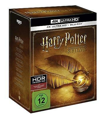 Harry Potter Komplettbox 8 Filme 1-7 Box Complete Collection Blu-Ray 4K Ultra Hd